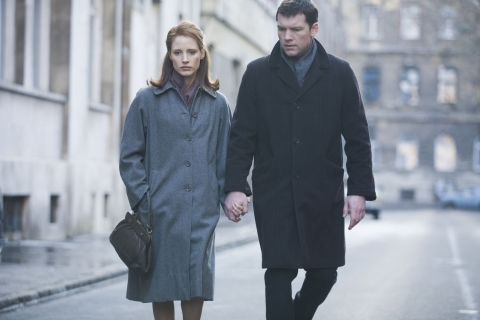The Debt Jessica Chastain grapples with Sam Worthington