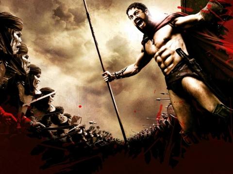 Фильм 300 спартанцев рассказывает о кровопролитной бойне при фермопилах в 450 году но нашей эры