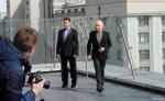 Роберт Дауни-мл. и Бен Кингсли в Москве кадры