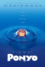 Рыбка Поньо на утесе плакаты