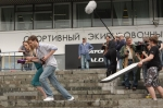 На крючке!, со съемок, Екатерина Вилкова, Константин Крюков
